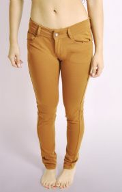 Ladies Tan Skinny Jeans